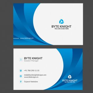 Blue and white business card vc164